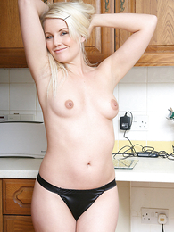 Girl in panties pics - Donna stripping  down to white knickers