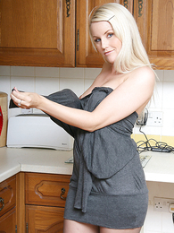 Panty pictures - Donna stripping  down to white knickers