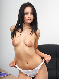 Teen in panties pics - Hot pics be fitting of Sara unzipping her all white garments