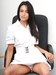 Panty pictures - Hot pics be fitting of Sara unzipping her all white garments