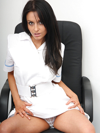 Panty galleries - Hot pics be fitting of Sara unzipping her all white garments