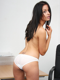 Teen in panties pics - Pics of Sarah stripping down on touching will not hear of white tights