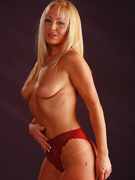 Teen in panties pics - Clair in red panties