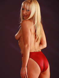 Girl in panties pics - Clair in red panties