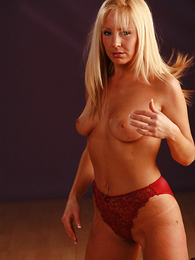 Undies gals - Clair in red panties