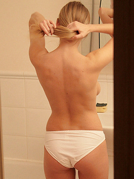 Panty pictures - Stephanie only of two minds and looking on tap herself in reflect