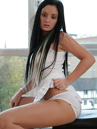 Panty gals - Kate in all white looking sexy - Picture #1