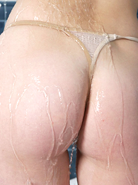 Girl in panties photo - Inviting shower with reference to wet rank panties