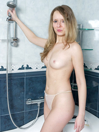 Thongs pics - Inviting shower with reference to wet rank panties