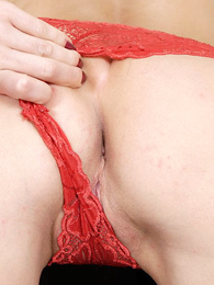 Panty pictures - Doll posing in transparent french panty