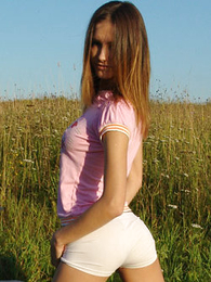 Panty pics - Cute teen posing thither morose white shirts