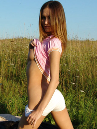 Panty galleries - Cute teen posing thither morose white shirts