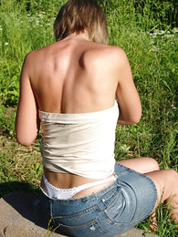 Panty gals - Comely flaxen-haired teen thong