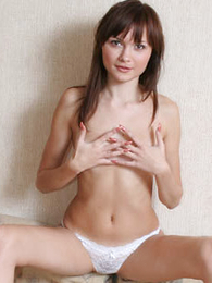 Undies gals - Petite kitty posing with only her tiny panties on