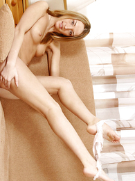 Girl in panties pics - Paramour blonde puss steps out be required of her white thongs