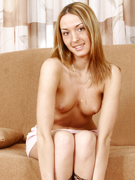 Undies gals - Paramour blonde puss steps out be required of her white thongs