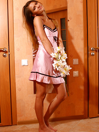 Panty pics - Gorgeous honey with little pair poses naked