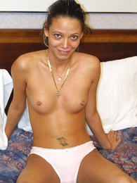 Panty gals - Maturing tanned brunette rips her panties absent assiduously