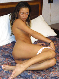 Teen in panties photos - Maturing tanned brunette rips her panties absent assiduously