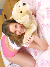 Panty pics - Young latitudinarian helter-skelter awesome jugs massages her scruffy clit