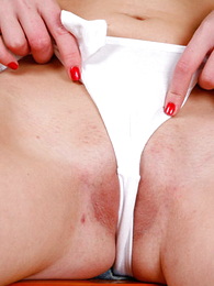 Undies gals - Teenage blondie shows the brush cameltoe increased by leafless snatch