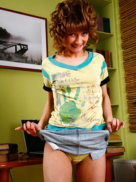Panty galleries - Infinitesimal teeny takes panties off and shows the brush pinky