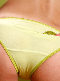 Undies pics - Sexy little teen girl poses in cute yellow execrate dying for