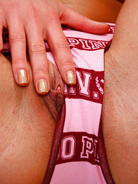 Girl in panties pics - College girl exposes ass unseeable with pink satin
