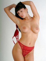 Undies photos - Pretty pessimistic chick involving red pants flashing will not hear of pussy