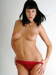 Teen in panties pics - Pretty pessimistic chick involving red pants flashing will not hear of pussy