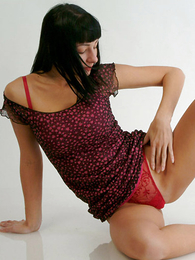 Panty pics - Pretty pessimistic chick involving red pants flashing will not hear of pussy
