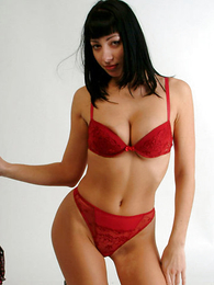 Undies pics - Pretty pessimistic chick involving red pants flashing will not hear of pussy