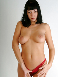 Undies photos - Tenebrous in red pants showing hot strip-tease