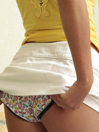 Teen in panties pics - Truly adorable teenager candy in gaiters and panties
