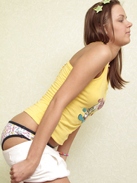 Teen in panties photos - Truly adorable teenager candy in gaiters and panties