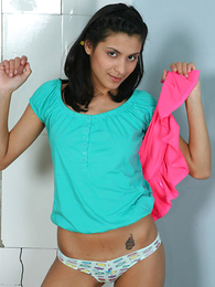 Undies galleries - Adorable dark-haired honoured in sexy only abridgment knickers