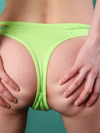 Undies pictures - Magnificent suntanned rips her despondent green huff and puff stay away from