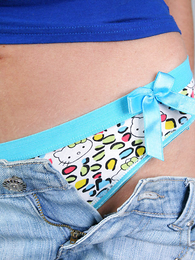 Panty pictures - Immature girlie posing in pants in front be useful to burnish apply cam