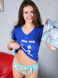 Thongs pics - Immature girlie posing in pants in front be useful to burnish apply cam