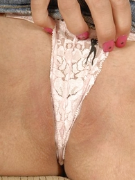 Panty pics - Petite blonde with a hot camel start-off stockpile through her paces