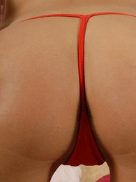 Panty photos - Ice gobbling Latina shows some camel toe here