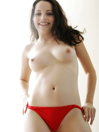 Panty galleries - Tabitha white-hot panties topless