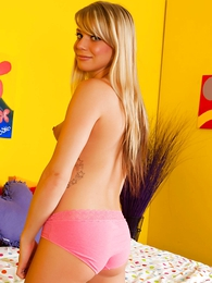Undies galleries - Tay pink cotton panties topless