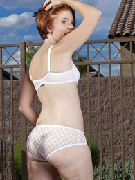 Panty photos - Molly American Apparel rude white panties