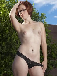 Girl in panties photo - Molly black lace thong
