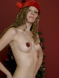 Girl in panties pics - Lacey red boy short christmas