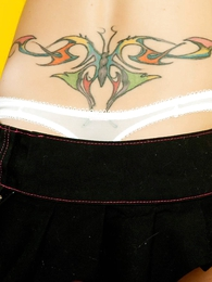 Panty pictures - Lacey washed out soutache up skirts
