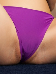 Undies pictures - Lacey purple panties