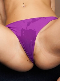 - Lacey purple panties
