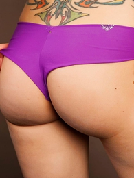 Panty pics - Lacey purple panties